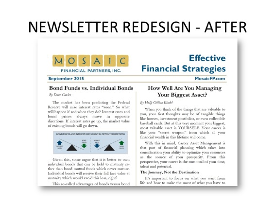 Newsletter redesign - after